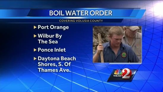 Boil water alert issued in Port Orange after pipe bursts