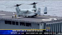 Marines land Osprey aircraft on Japanese ship