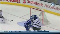 Jeff Carter finishes on the two-on-one