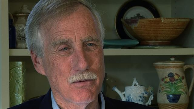 Newly-elected Sen.  Angus King vows to compromise