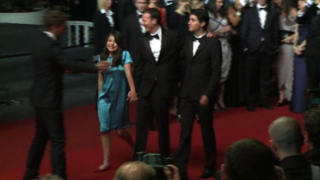 Cast of Mexican Cannes entry walks red carpet