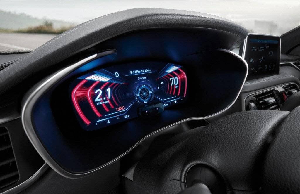 韓國2019年式GENESIS G70,首次搭載3D數位儀表