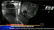 Hooters restaurant burglary caught on tape