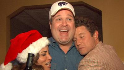 Christmas Crashers: Billy Bush And Kit Hoover Surprise Eric Stonestreet