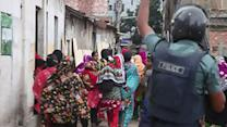Raw: Bangladesh Garment Workers, Police Clash