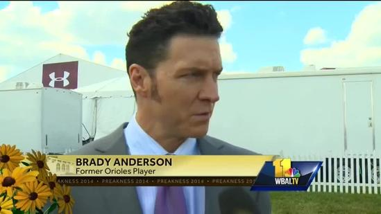 Brady Anderson at the Preakness