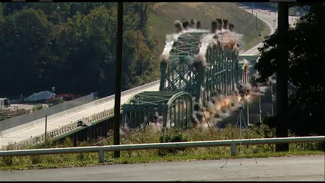 Watch: Bridge implosion in southwest Pa.