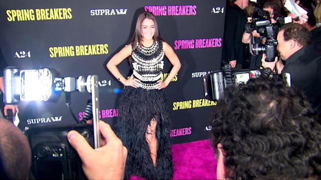 Red Hot Selena Gomez Takes the Plunge at Spring Breakers Premiere