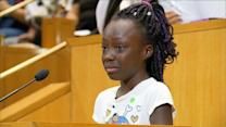 Girl Makes Tearful Plea at Charlotte City Council Protest