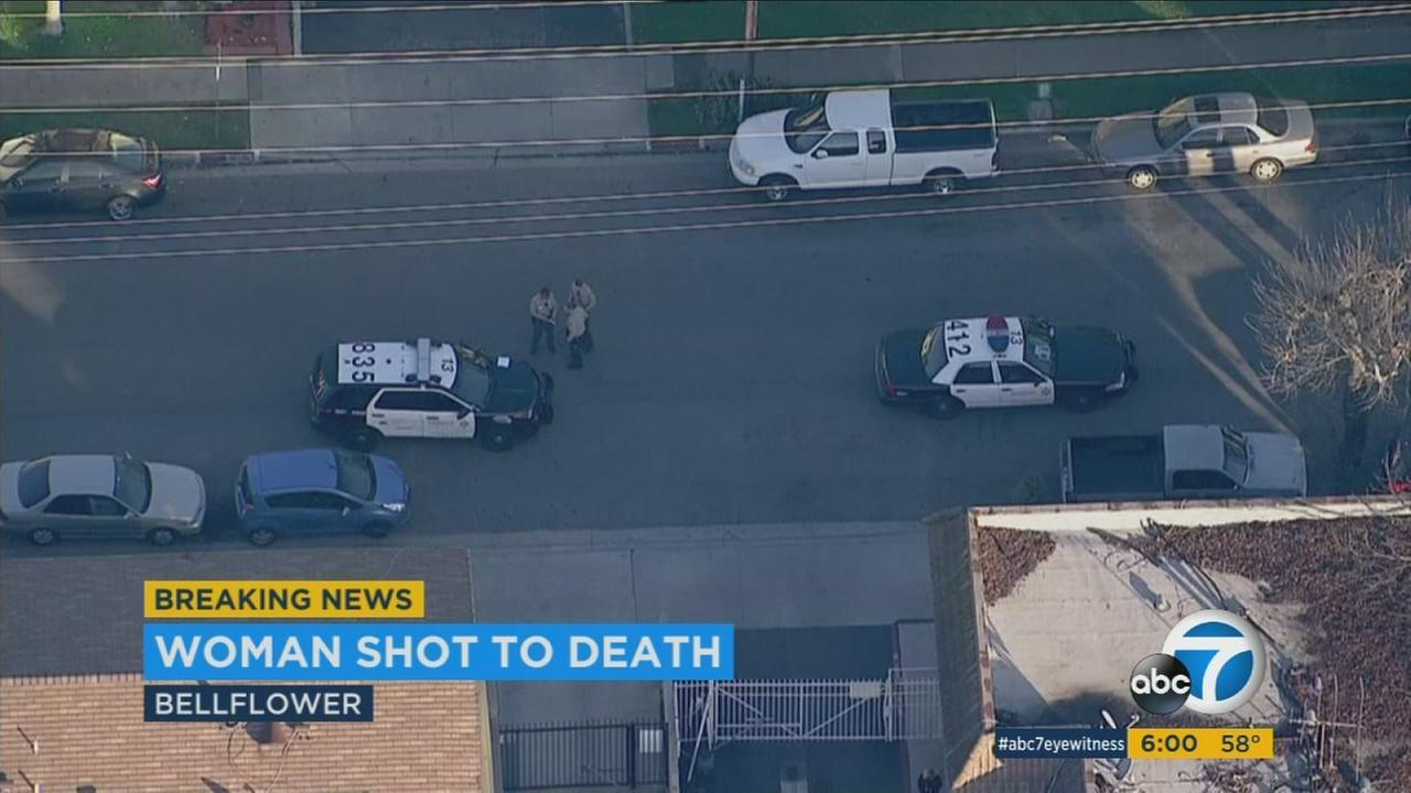 Woman Shot To Death In Bellflower Suspect Still At Large Video