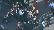 Road rage: Crash leads to brawl after NASCAR race