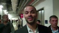Parker Arrives for All-Star Saturday Night