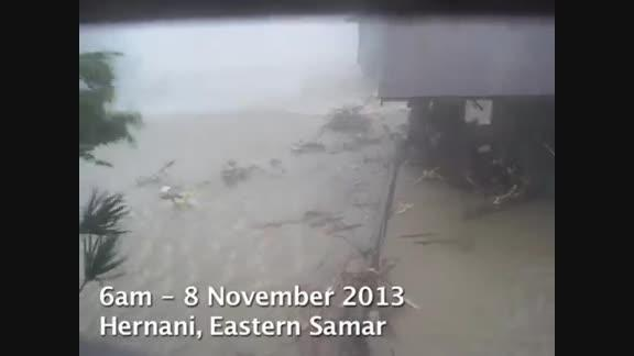 Eyewitness footage of Typhoon Haiyan
