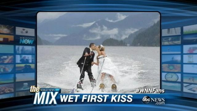 A Wet and Wild Wedding on Water Skis