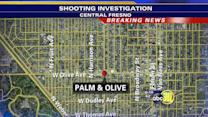 Police investigate a shooting in Central Fresno