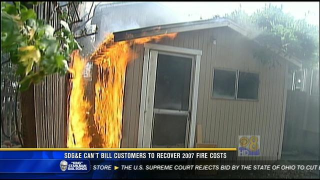 SDG&E can't bill customers to recover 2007 fire costs