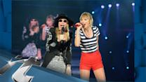 Celeb News Pop: Taylor Swift And Carly Simon Perform 'You're So Vain'