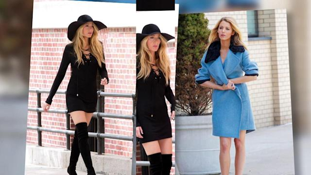 Blake Lively Looks Sexy on a New York Photo Shoot