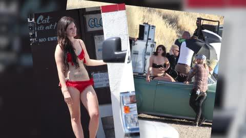 Lana Del Rey Shoots Short Film 'Tropico' in Los Angeles