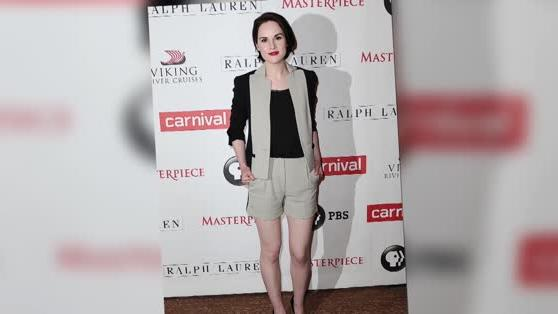 Michelle Dockery Shows Off Her Legs With the Downton Abbey Ladies