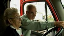 97 Year Old Grandma Takes the Wheel on Big Rig