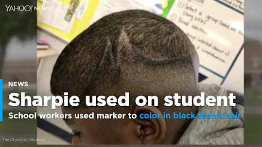 School workers who used Sharpie to color in black teen\'s ...