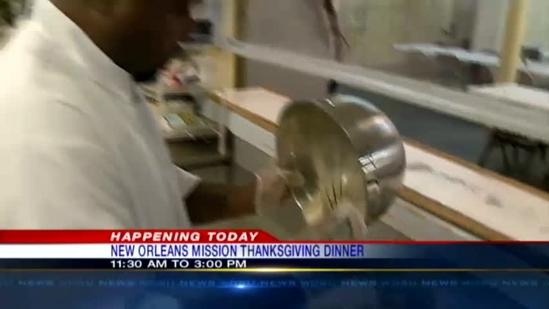 Mission opens for Thanksgiving dinner
