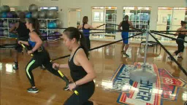 Bungee classes offer challenging workout