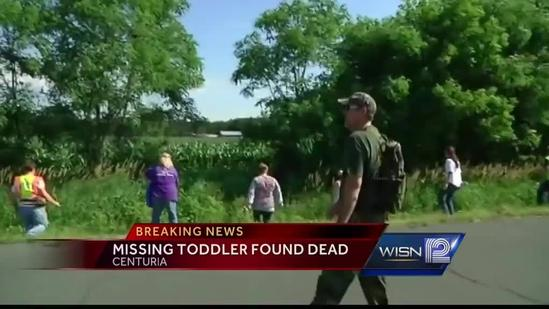 Missing Wisconsin toddler found dead
