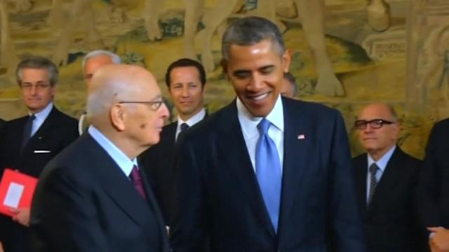 Obama holds talks with Italian president