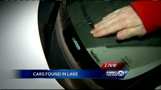 Drained lake yields cars, mystery