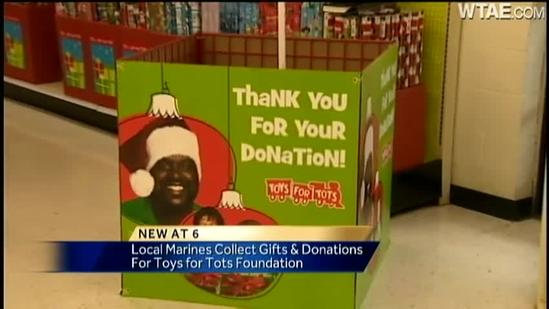Marines collect donations for Toys For Tots