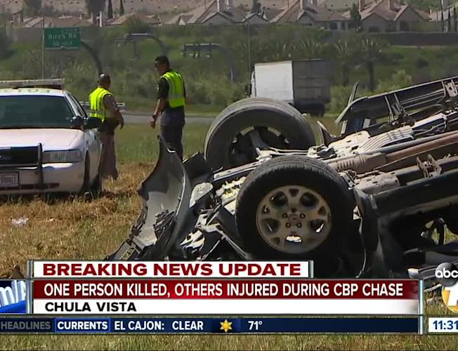 Chase ends in crash on Chula Vista freeway, death of 1 person