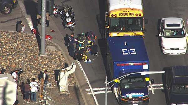 Injuries reported in San Jose school bus accident