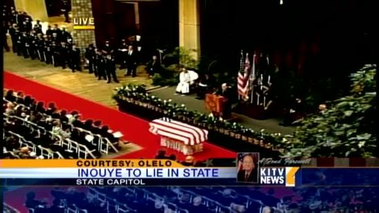 Gov. Abercrombie speaks at Sen. Inouye's memorial service
