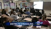 Schools in need of special education teachers