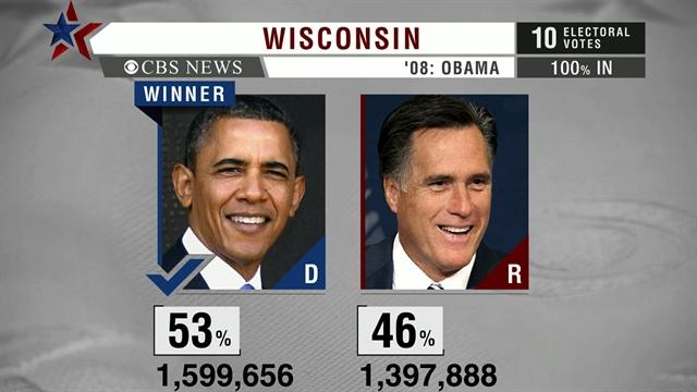 Wisconsin pivotal state for Obama victory