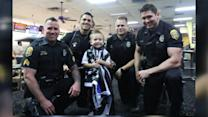 Officers Surprise Pint-Size Fan at Police-Themed Birthday Party