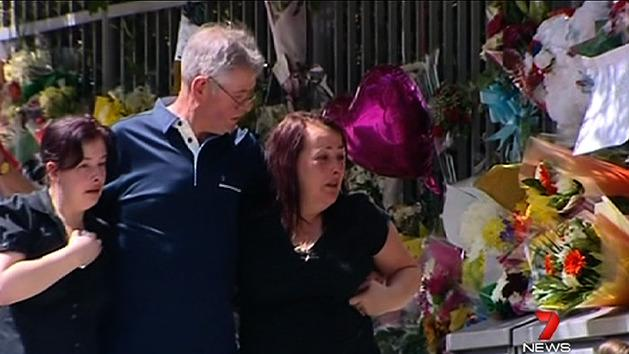 Lee Rigby's family visits crime scene