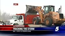 Oklahoma City street crews working to clear roads