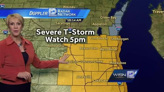Thunderstorm Warnings issued until 11:15 a.m.
