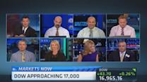 Dow approaches 17,000