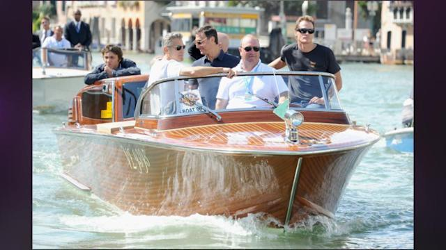 George Clooney, Sandra Bullock And Louis Touch Down In Venice Ahead Of Film Festival