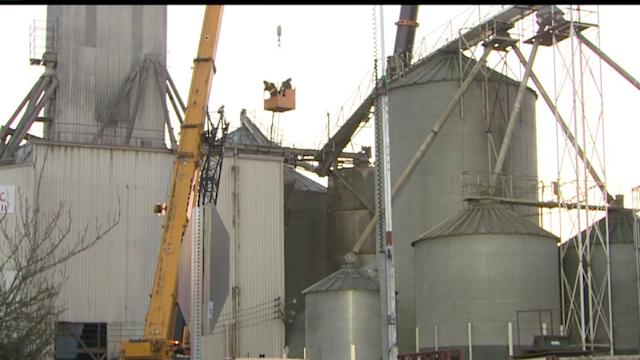 Crews Search for Missing Worker After Silo Collapse