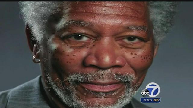 Artist uses iPad to make portrait of Morgan Freeman