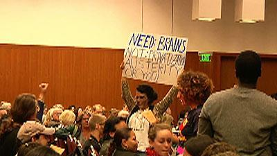'Zombie' protesters interrupt UC board meeting