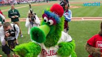 Phanatic Celebrates Birthday At Phillies Braves Game