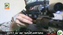 Video purports to show Hamas-made sniper rifle used against Israelis