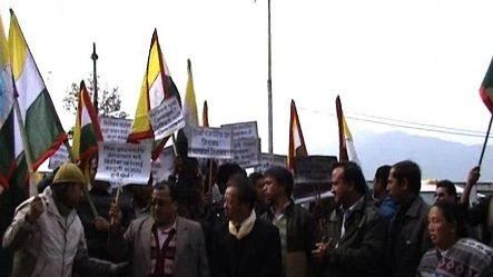 Opposition parties protests against government in Sikkim