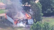 Burlington County barn destroyed by fire